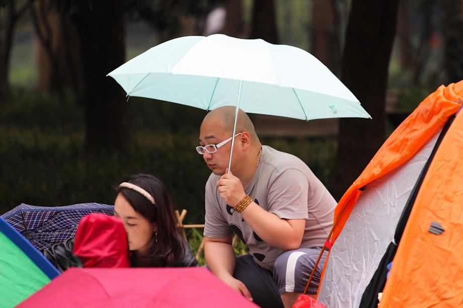 support the umbrella