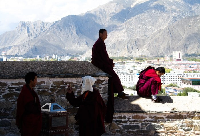 Monks in Lhasa