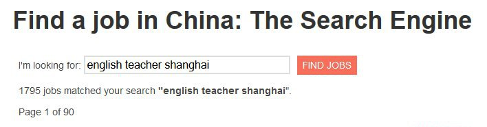 Find a Job in China