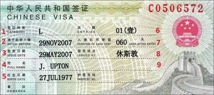 How To Get A Visa For China Chinese Visa Application