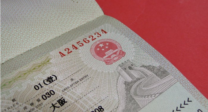 chinese visa in hong kong