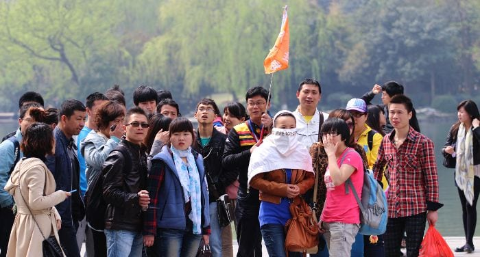 Chinese group tour