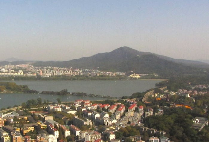 Purple-Mountain-from-top-of-highest-tower-in-Nanjin
