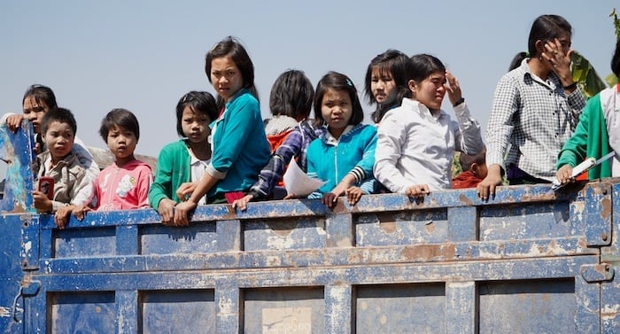 Children returning from the cafeteria