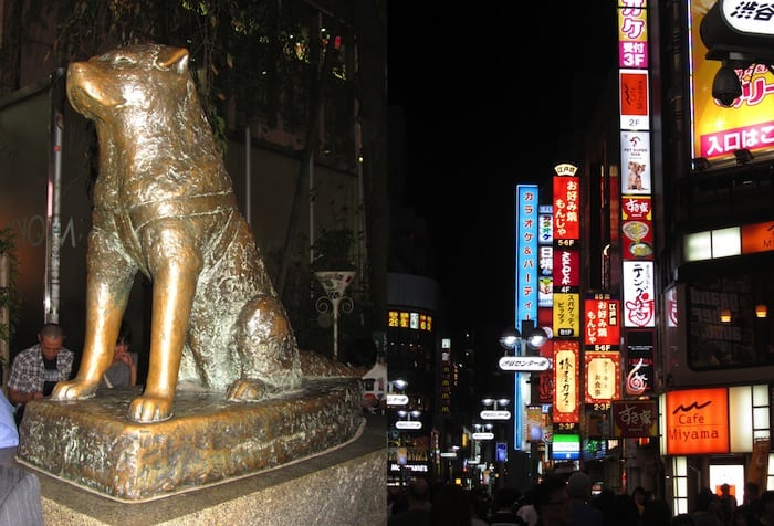 The Shibuya Neighborhood and statue of Hachiko
