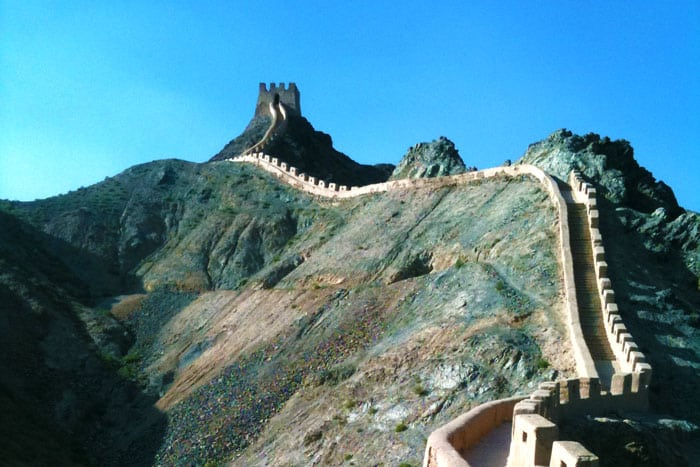 The Great Wall at Jiayuguan
