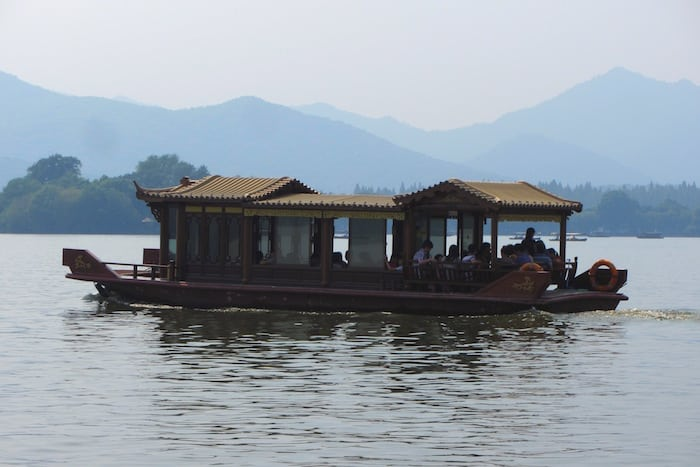 The boats of West Lake