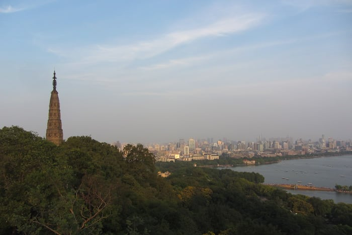 View of the city from Baoshi Hill