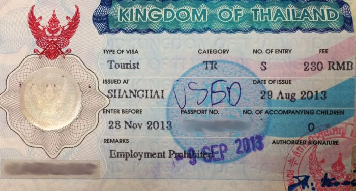 How to get a Thai visa