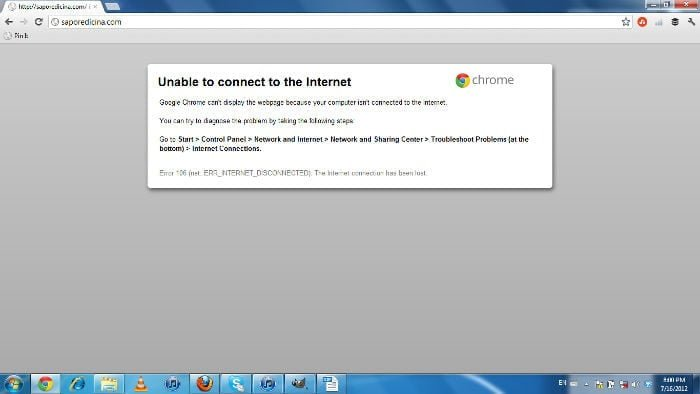 Internet Error