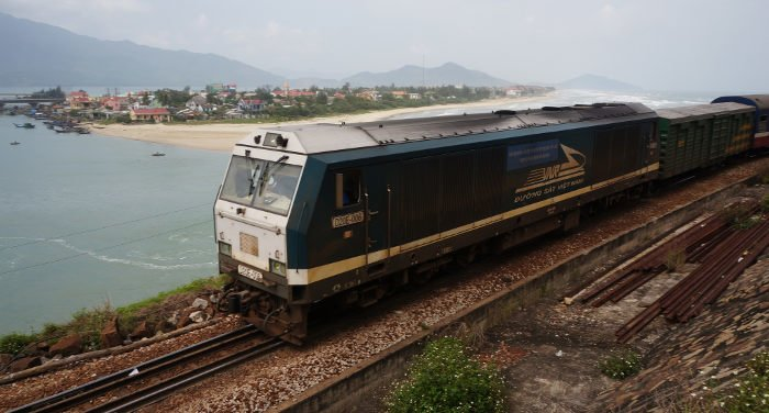 Traveling by train in Vietnam