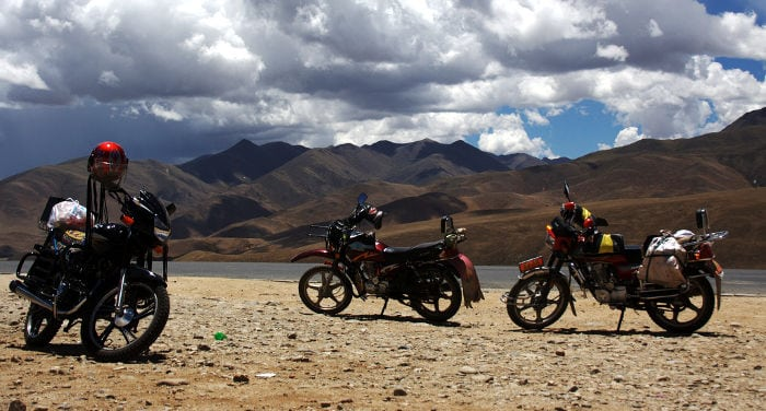 Riding a Motorcycle across China