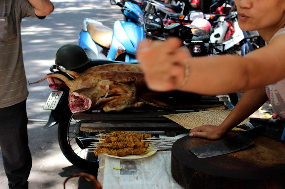 carnicero de carne de perro