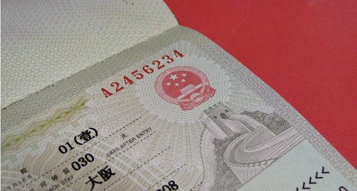 visado chino en hong kong