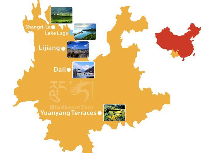 Mapa de Yunnan