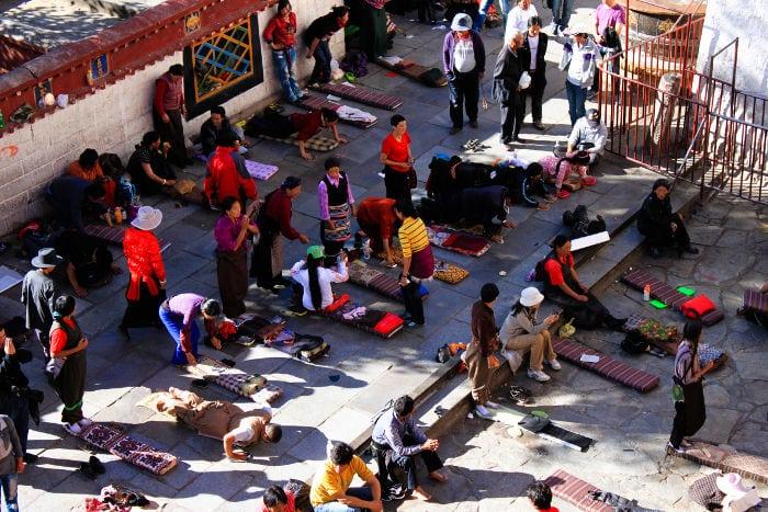 Lhasa monjes budistas