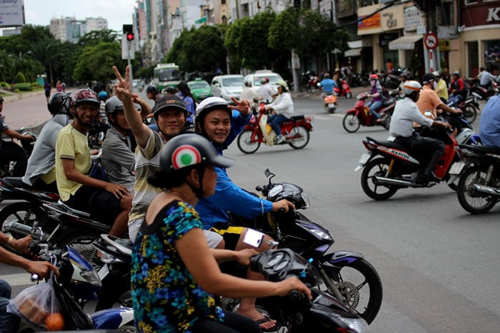 tráfico en Ho Chi Minh