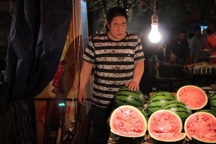 mercado nocturno Beijing oeste