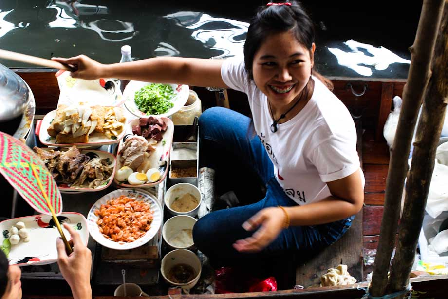 Mercado flotante bangkok