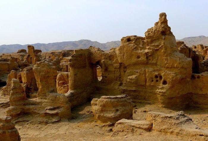 Ruinas de la antigua ciudad de Jiaohe