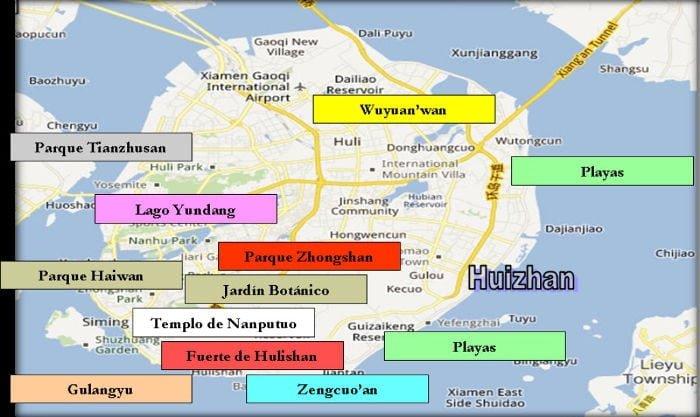 Gua rpida de xiamen amoy china mapa xiamen gumiabroncs Gallery