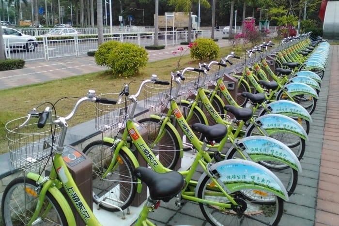 estacion de bicis shenzhen