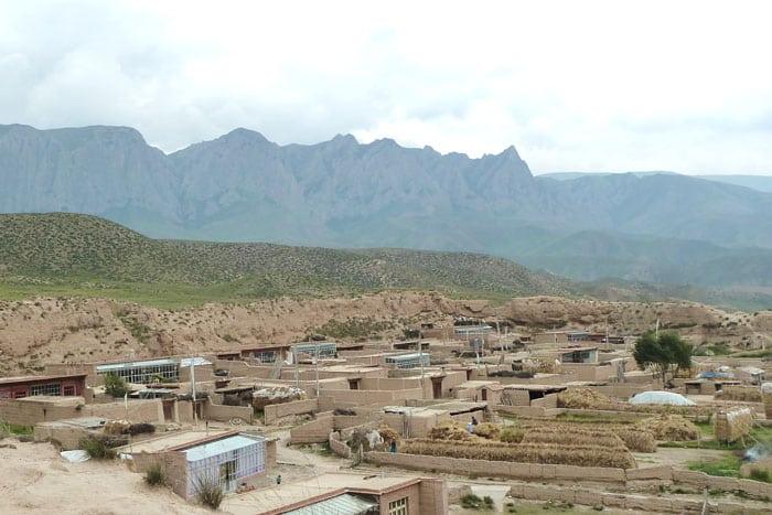 Vista de parte de la ciudad de Bajiao desde la parte superior de su muralla