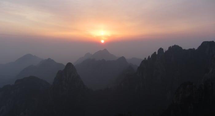 El amanecer de Huang Shan