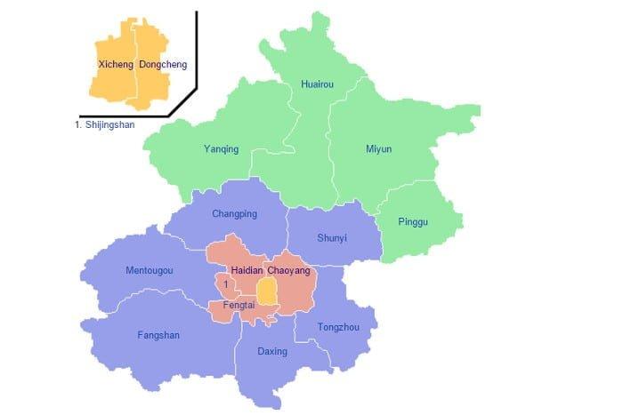distritos beijing
