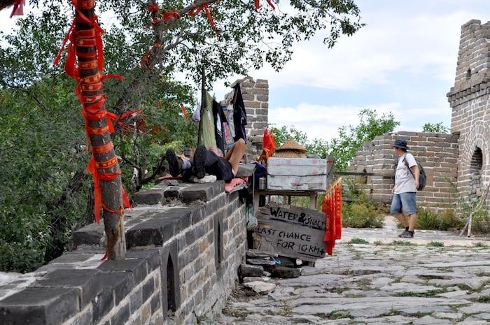 El último tramo de Mutianyu antes de entrar en Jiankou