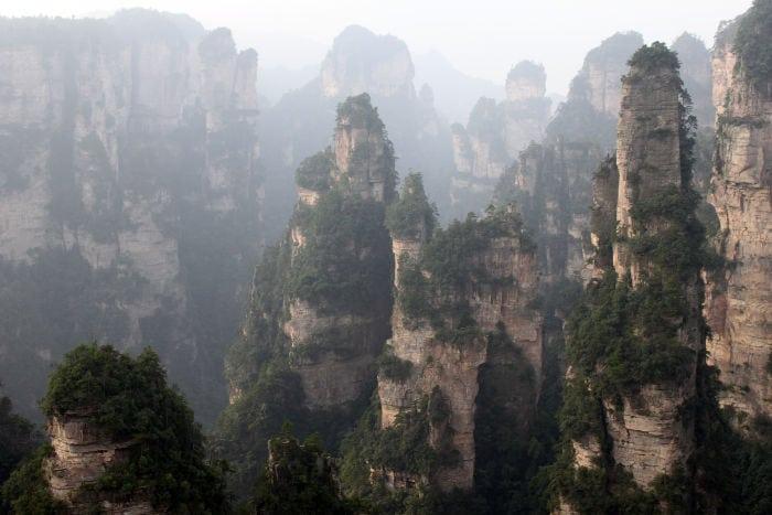 itinerarios de viaje Zhangjiajie