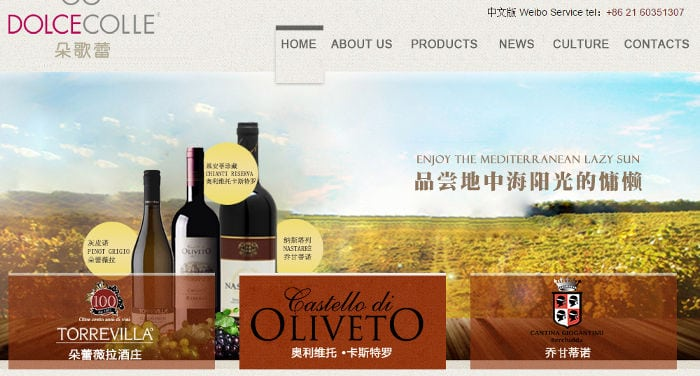 comprar vino italiano en China