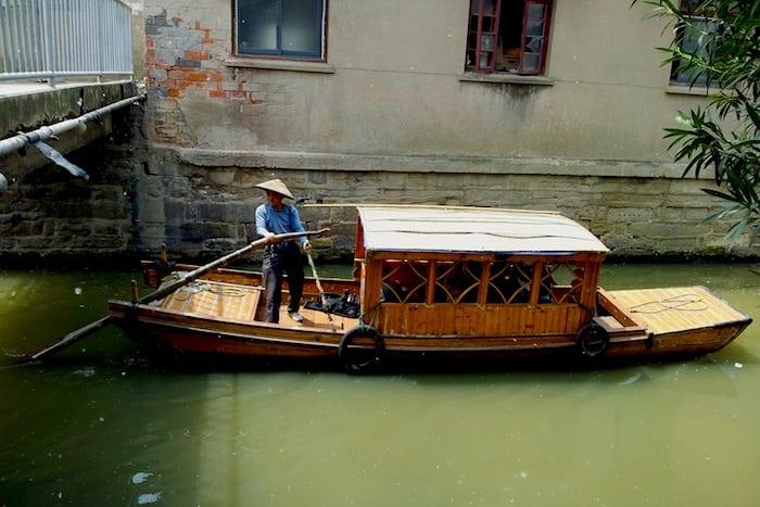 Barcas en Suzhou