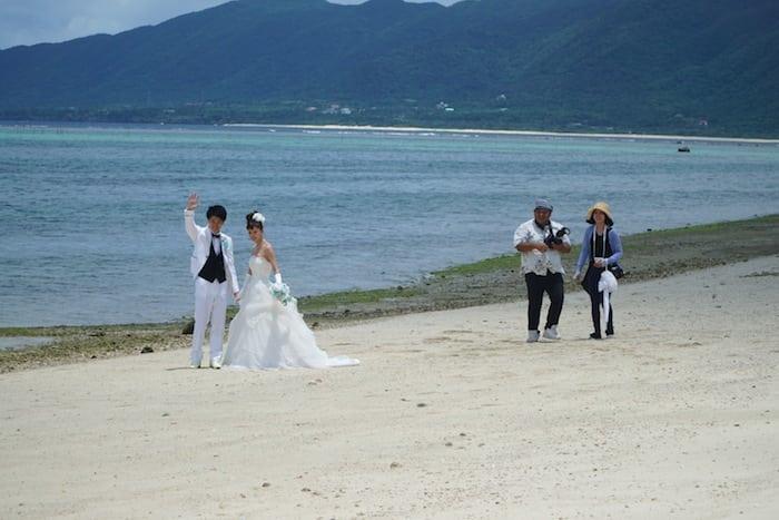 foto de boda en Okinawa