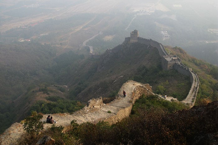 Gran muralla en Jiaoshan