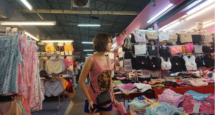 mercados de falsificaciones en Tailandia