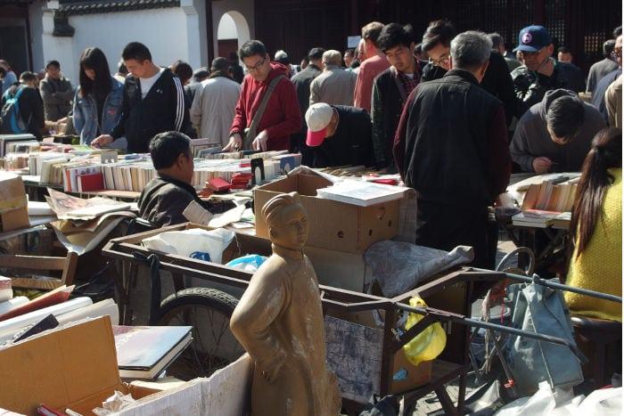 mercado de libros de shanghai