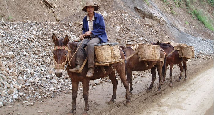Atravesar la frontera de China y Vietnam a pie