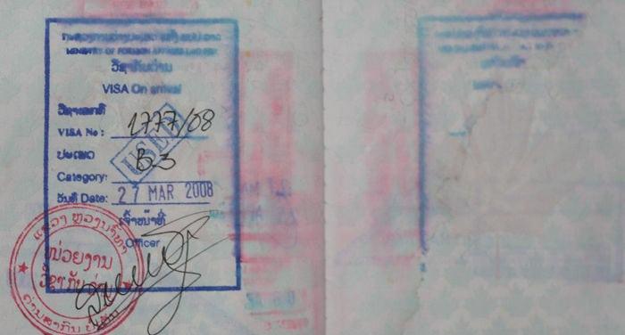 Visado a Laos
