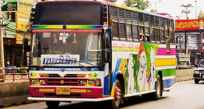 Viajar en autobús por Tailandia