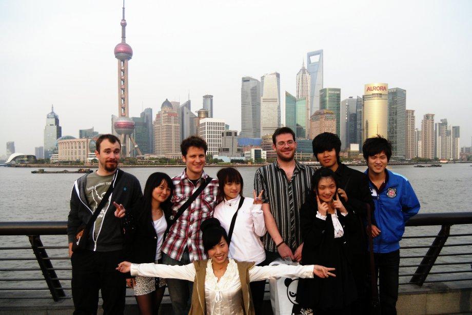 foto ricordo a shanghai