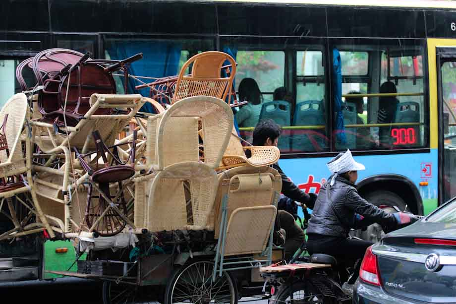 trasportare oggetti in Cina