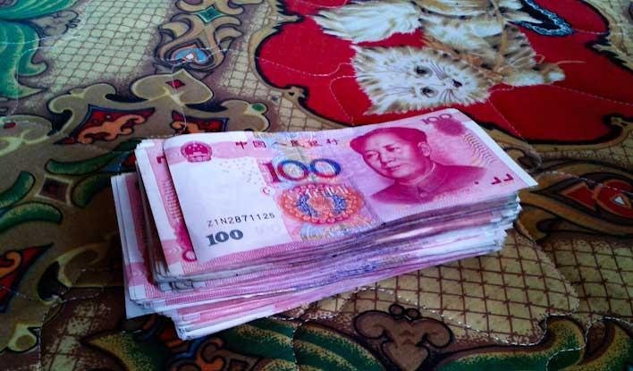 soldi in cina