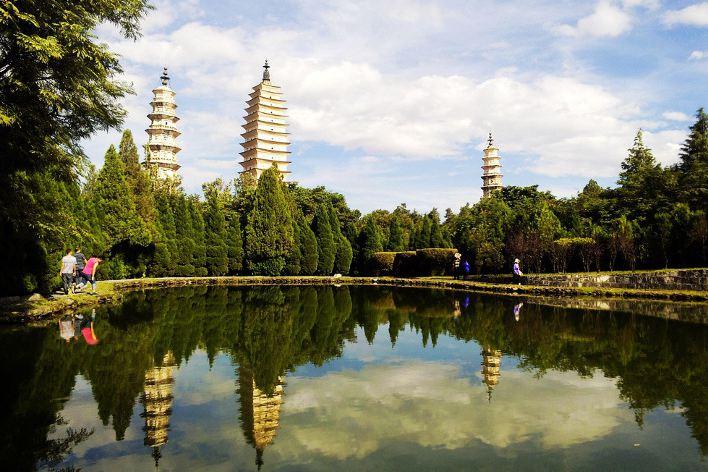le tre pagode, Dali