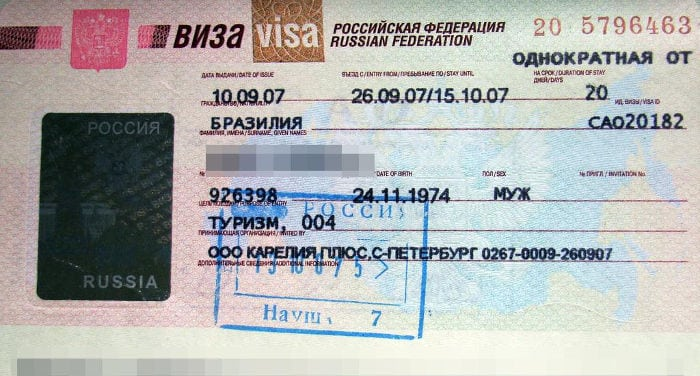 visto per la russia