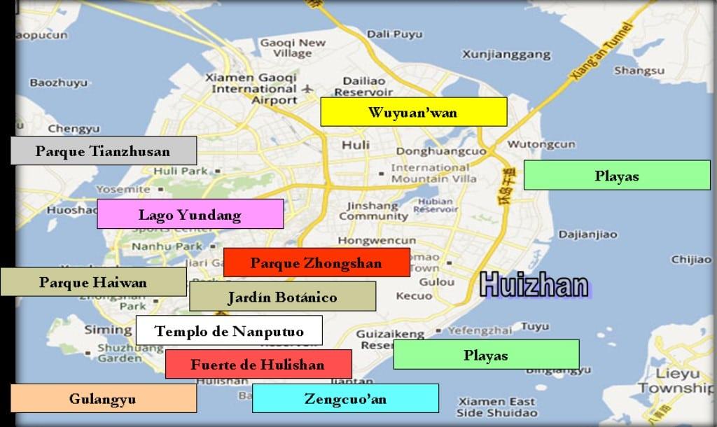 Cartina Xiamen