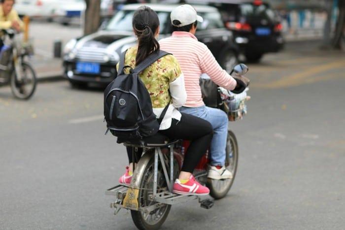Moto-taxi a Shenzhen