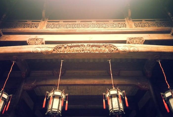 Un particolare dell'architettura di Xidi