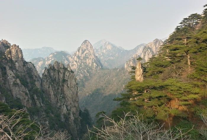 Panorama dalla Huang Shan