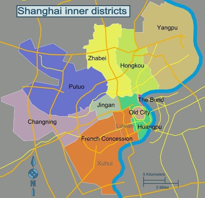 Distretti di Shanghai